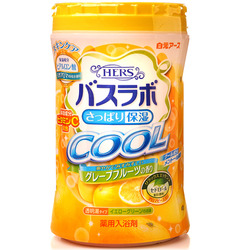 """Hakugen """"Hakugen Earth - Hers Bath Labo Cool"""" : Увлажняющая соль для ванны с освежающим эффектом с гиалуроновой кислотой и витамином С, с ароматом грейпфрута, банка 640 гр."""