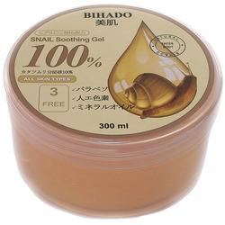 Bihado Snail Soothing Gel : Увлажняющий гель для лица и тела, с муцином улитки. 300 мл.