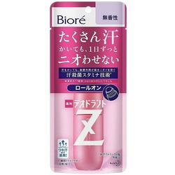Kao «Biore Deodorant Z» : Роликовый дезодорант-антиперспирант с антибактериальным эффектом, без аромата, 40 мл.