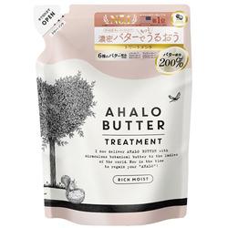 Cosme Company AHALO BUTTER Treatment Rich Moist : Восстанавливающий бальзам-ополаскиватель с тропическими маслами, йогуртом и мёдом, без сульфатов, 400 мл.