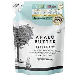 Cosme Company AHALO BUTTER Treatment Smooth Repair : Восстанавливающий пенный бальзам-ополаскиватель для гладкости, блеска и здорового роста волос, без сульфатов и силикона, 400 мл.