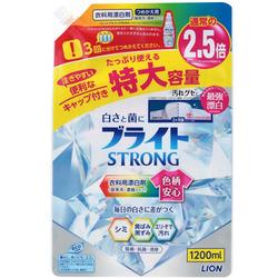 """Lion """"Bright Strong - Супер Яркость"""" : Гель-отеливатель кислородный для стойких загрязнений, с антибактериальным эффектом, 1200 мл."""