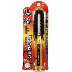 Ikemoto Du-Boa Horse Oil Damage Care Brush : Щетка для поврежденных волос с лошадиным маслом.
