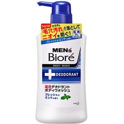 """Kao """"Men's Biore"""" : Увлажняющее и дезодорирующее мужское жидкое мыло для тела с ароматом мяты 440 мл."""