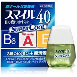 Lion Smile 40EX Super Cool : Супер освежающие витаминизированные капли для глаз, 13 мл.