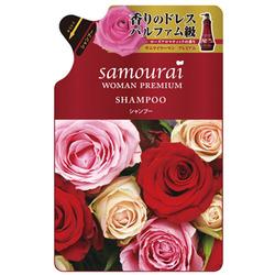 SPR Japan Samourai Woman Premium : Шампунь для волос восстанавливающий и увлажняющий, с великолепным ароматом роз, 370 мл.