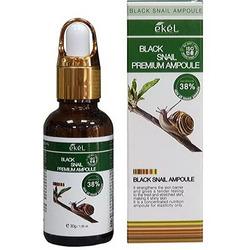 Ekel Premium Ampoule Black Snail Ампульная сыворотка для лица с муцином улитки 30 гр