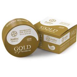AsiaKiss Gold Premium Hydrogel Eye Patch Гидрогелевые патчи для глаз с экстрактом золота. 60 шт.