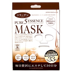 Japan Gals Japan Gals 5 Pure Essence Collagen Mask : Маска для лица с коллагеном. Комплект. 30 шт.