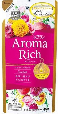 Lion Aroma Rich Scarlett : Кондиционер для белья c натуральными ароматическими маслами, 430 мл.