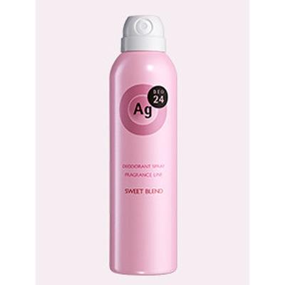 Shiseido Ag+ Sweet Blend : Дезодорант-спрей для тела с ионами серебра. С нежным ароматом сладких цветов. 40 гр. или 142 гр.