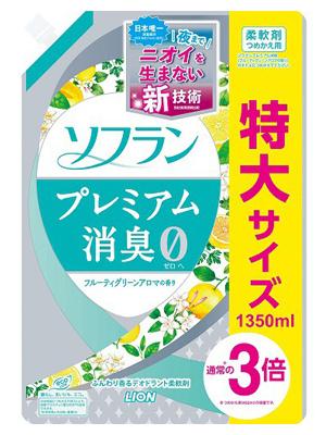 Lion Soflan Day Fresh Fabric Softener : Кондиционер-ополаскиватель для белья с натуральным фруктовым ароматом. 1440 мл.