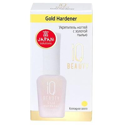 IQ Beauty Gold Hardener : Укрепитель ногтей с золотой пылью, 12,5 мл.