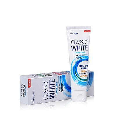 Mukunghwa Зубная паста «Classic White» - Отбеливающая зубная паста двойного действия с микрогранулами с ароматом мяты и ментола 110 гр.
