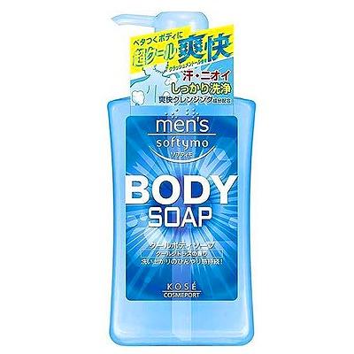 """Kose Cosmeport """"Men's Softymo"""" : Мужской гель для душа с охлаждающим эффектом """"Бодрящая свежесть"""", с цитрусовым ароматом, 550 мл."""