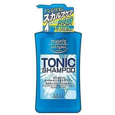 """Kose Cosmeport """"Men's Softymo"""" : Мужской тонизирующий шампунь для волос, с цитрусовым ароматом, 550 мл."""