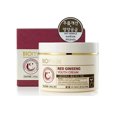 Biomax Омолаживающий крем с экстрактом красного женьшеня 100 мл.