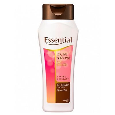 Kao Essential : Увлажняющий и разглаживающий шампунь для ослабленных волос, с цветочным ароматом, 200 мл.
