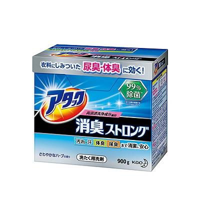 """Kao """"Attack"""" : Порошок для замачивания и стирки сильно загрязненного белья и устранения стойких запахов, с ароматом свежих трав, 900 гр."""