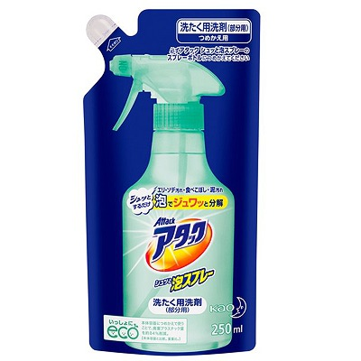Kao Attack Bubble Spray : Спрей-пятновыводитель для обработки пятен перед стиркой. (запасной блок) 250 мл.