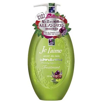 """Kose Cosmeport """"Je l'aime"""" : Тритмент для тусклых волос с гиалуроновой кислотой """"Блеск и восстановление"""", без силикона, с ароматом лесных трав, 500 мл."""
