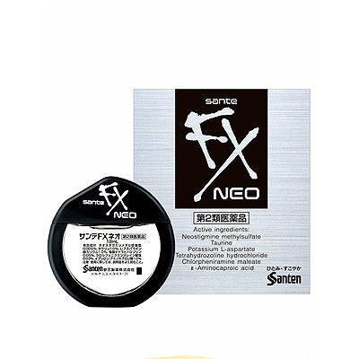 Santen FX Neo : Капли для глаз с таурином (серебро), 12 мл.