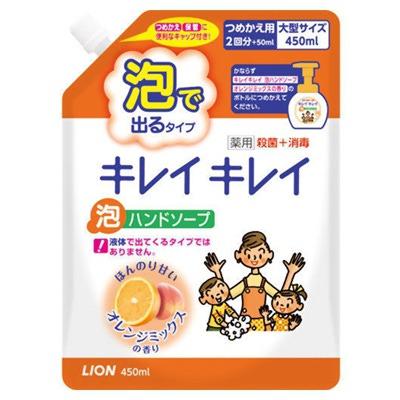 """Lion """"KireiKirei"""" : """"Фруктовый микс"""" Жидкое мыло-пенка для рук для детей и взрослых с антибактериальным эффектом, сменная упаковка, 450 мл."""