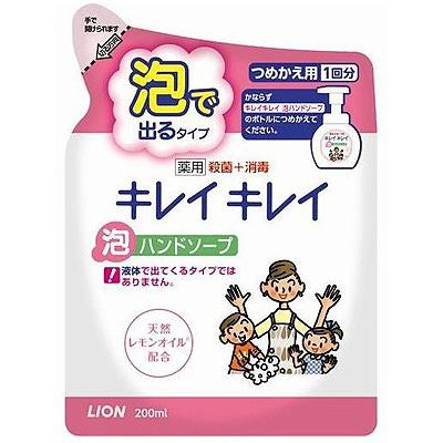 """Lion """"Kireikirei"""" : Жидкое мыло-пенка для рук для детей и взрослых с антибактериальным эффектом и ароматом цитрусовых фруктов, сменная упаковка, 200 мл."""