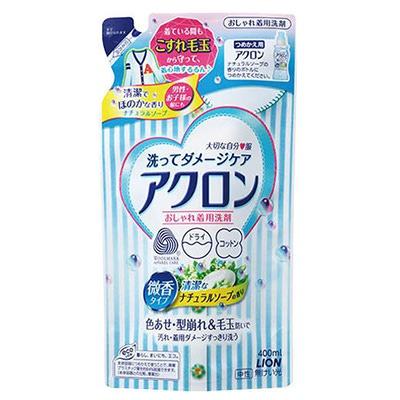 Lion Acron : Средство для стирки изделий из шерсти и шелка, для деликатных тканей, аромат свежести и чистоты, 400 мл.