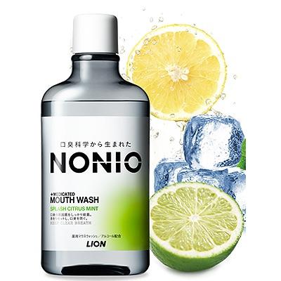 Lion «Nonio» Профилактический зубной ополаскиватель, аромат цитрусовых и мяты, 600 мл.