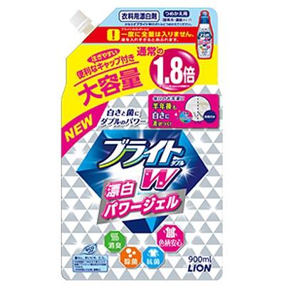 """Lion """"Bright W"""" : Дезинфицирующий жидкий пятновыводитель для цветного белья """"Яркость Plus"""", сменная упаковка, 900 мл."""
