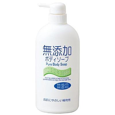 Nihon No added pure body soap : Натуральное бездобавочное жидкое мыло для тела, для всей семьи, 550 мл.