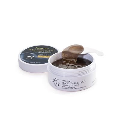 Farmstay Black Pearl & Gold Hydrogel Eye Patch : Гидрогелевые патчи с золотом и черным жемчугом, 60 шт.