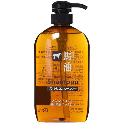 Cosme Station : Шампунь с лошадиным маслом для поврежденных и ломких волос, 600 мл.