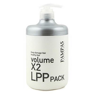 Pampas Professional Deep Damage Volume X2 LPP Hair Pack : Восстанавливающая маска. Интенсивная терапия поврежденных волос. 1000 мл.