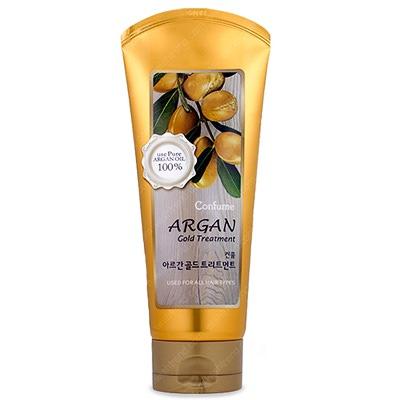 Welcos Confume Argan Gold Treatment : Маска для волос с аргановым маслом. 200 гр.