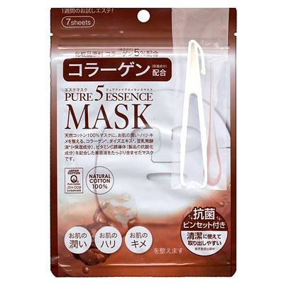 Japan Gals Japan Gals Pure 5 Essential Collagen Essence Mask : Маска для лица питательная с коллагеном 7 шт. уп.
