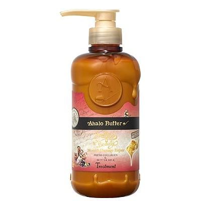 Cosme Company Ahalo Butter Moist & Repair Treatment : Бальзам-ополаскиватель увлажняющий и восстанавливающий на растительной основе с тропическими маслами, коллагеном и аминокислотами (без сульфатов) 500 мл.