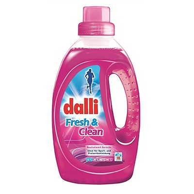 Dalli Fresh & Clean : Концентрированный гель для стирки спорт-одежды. Подходит для стирки пуховиков. 1,35 л.