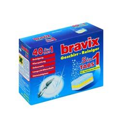 Bravix Tabs : Таблетки 5 в 1 Для посудомоечных машин 40 шт.