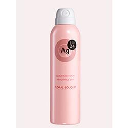 Shiseido Ag+ Floral Bouquet : Дезодорант-спрей для тела с ионами серебра. С ароматом свежего цветочного букета. 40 гр. или 142 гр.