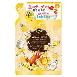 Cosme Company Ahalo Butter Body Soap HM : Жидкое мыло для тела с тропическими маслами, медом и молоком, с ароматом меда и ванили, 420 мл.