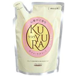 Shiseido Kuyura : Увлажняющее жидкое крем-мыло для тела, с цветочным ароматом, запасной блок, 400 мл.
