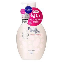 Shiseido Perfect Bubble for Body : Увлажняющее пенное мыло для тела с длительным дезодорирующим эффектом, со сладким цветочным ароматом, 500 мл.