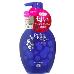 Shiseido Perfect Bubble for Body : Жидкое пенное мыло для тела с длительным дезодорирующим эффектом, с цветочным ароматом, 500 мл.