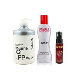 """Pampas Акционный набор из трех товаров Pampas. Профессиональная Маска, Эссенция """"Шелковая Терапия"""" + Масло Арганы в подарок."""