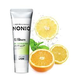Lion Nonio : Профилактическая зубная паста для удаления неприятного запаха, отбеливания, очищения и предотвращения появления и развития кариеса. Аромат цитрусов и мяты. 130 гр.