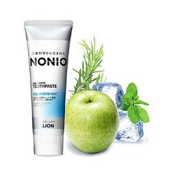 Lion Nonio : Профилактическая зубная паста для удаления неприятного запаха, отбеливания, очищения и предотвращения появления и развития кариеса. Аромат трав и мяты. 130 гр.