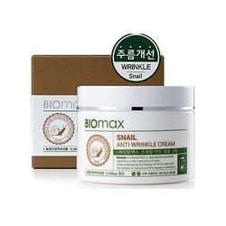 Biomax Крем для лица с экстрактом слизи улитки против морщин, 100 мл.
