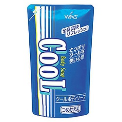 Nihon Wins Cool Body Soap : Охлаждающее мыло для тела, с ментолом и ароматом мяты, 400 мл.